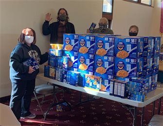 Faithful across nation collect 1 ton of mac & cheese for shore parish food donation