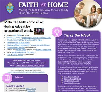 Diocese's Faith at Home aims to enrich Advent season